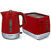 Morphy Richards Red Chroma Kettle and Toaster Set