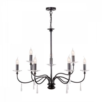 Old Bronze 9lt Chandelier - 9 x 60W E14
