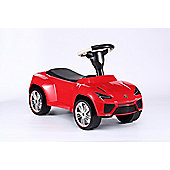 Lamborghini Urus Push Along Car with Leather Seat Red Ride On Kids Car