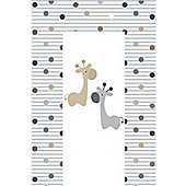 Babywise Baby Changing Mat - Giraffe & Friends (Grey & Brown)