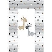 Babywise Baby Changing Mat - Giraffe & Friends (Grey & Brown)