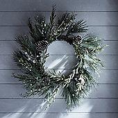 60cm Snowy Glitter Artificial Christmas Wreath