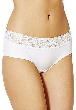 F&F Lace Trim No VPL Shorts - White