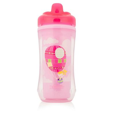 Dr Brown's Options New Improved Insulated Toddler Training Hard Spout Cup 300ml Pink