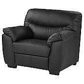 Buxton Leather Armchair, Black