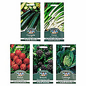Mr Fothergill's Seeds - Grow Your Own Starter Vegetable Garden Collection - 5pc Multipack