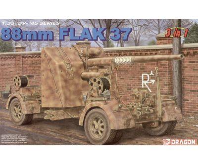 Dragon - 88mm Flak 37 (3 In 1) - Scale 1:35 6287