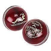 6 X Woodworm Junior Supreme County 4 3/4Oz Cricket Ball