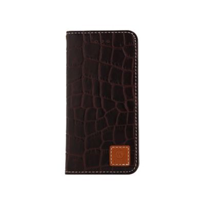 Wetherby Premium Croco iPhone 5 Case Dark Brown