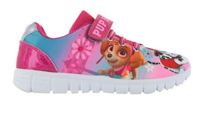Girls Paw Patrol Pup Heroes Pink Canvas Trainer Runner Childrens Shoes UK Size 9