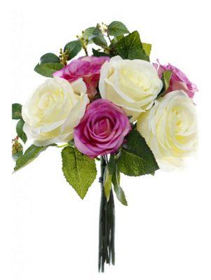 Artificial - Rose Bundle - Pink/Cream