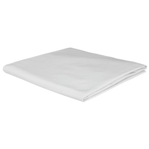 Tesco 100% Cotton King Size Fitted Sheet, White