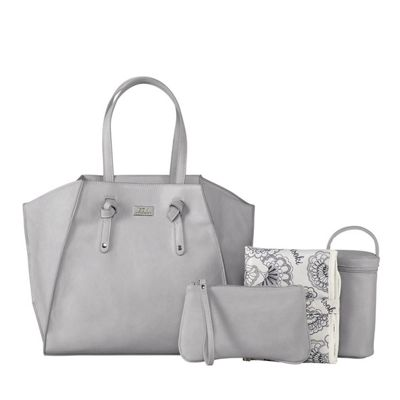 Isoki Easy Access Tote Portsea Light Grey - Changing Bag