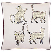 Tesco Newspaper Cats Cushion