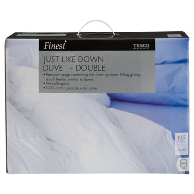 Finest Cotton Just Like Down Double Duvet, 10.5 Tog