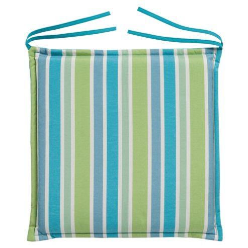 Tesco Cushion Seat Pad 2pk, Blue Stripe/Blue