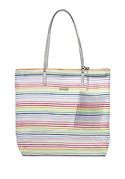 F&F Rainbow Mesh Tote Bag with Pouch
