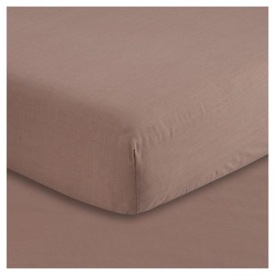 Tesco Fitted Sheet Double, Dark Natural
