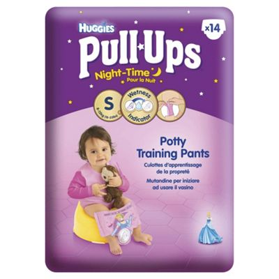 Huggies Pull Ups Potty Training Pants - Size 4 - Girl - Night Time - 14 Pants