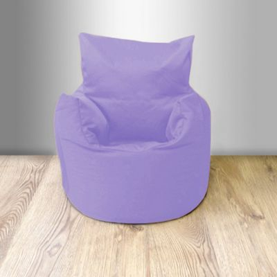 Children's 100% Cotton Twill Pre-Filled Bean Chair, Lilac