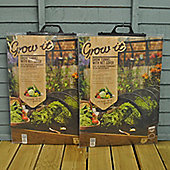 Pack of 2 Black Net Grow Tunnel Cloche