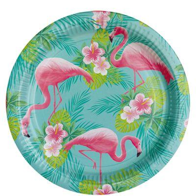 Flamingo Paradise Paper Plates - 23cm