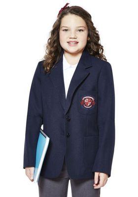 Girls Embroidered Blazer 5-6 years Navy