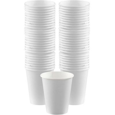 White Cups - 340ml Paper Coffee Cups - 40 Pack