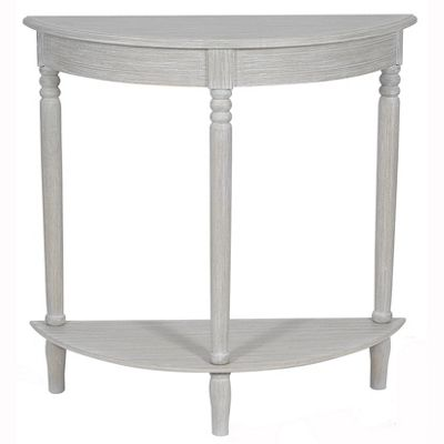 Slate Grey Pine Wood Half Moon Console Table K/D
