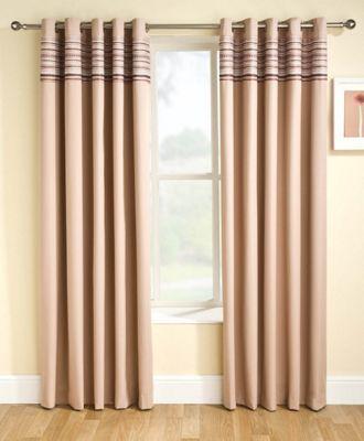 Enhanced Living Siesta Natural Eyelet Curtains - 66x54 Inches (168x137cm)