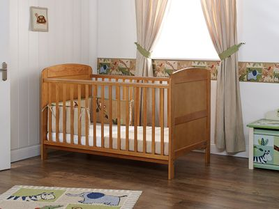 Obaby Grace Cot Bed and Sprung Mattress - Country Pine