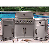 Lifestyle LFS680 Stainless Steel Bahama Island 5 Burner Gas BBQ