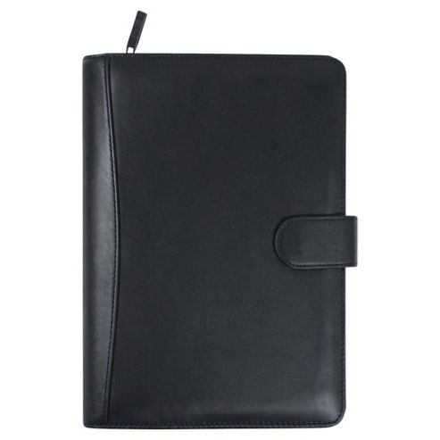 Collins Stirling A6 Premium Leather Pocket Organiser, Black