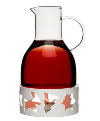 Sagaform Glass Mulled Wine Pot Warmer in White