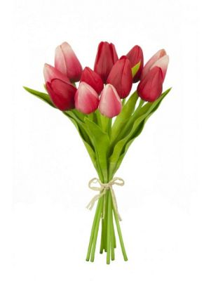 Artificial - Mini Tulip Bundle x 11 - Red