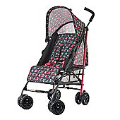 Obaby Atlas Stroller with Safety Mosquito Net and Raincover - Grey Rose