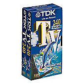 TDK TV240X2 VHS Twin Pack with 240 Minutes Capacity Suitable for Daily Use