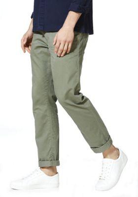 F&F 5 Pocket Straight Leg Chinos Khaki 30 Waist 30 Leg