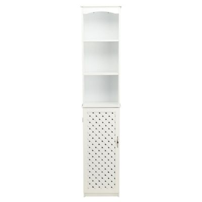 Sheringham Bathroom Storage Tall Boy, White Wood