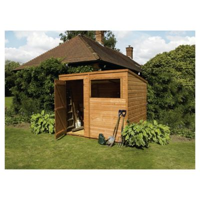 Mercia Shiplap Pent Wooden Shed, 8x6ft