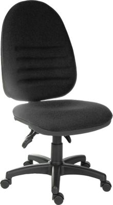 DSK Captain Large Ergonomic Operator Desk Chair - Charcoal