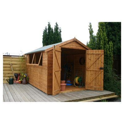 Mercia Shiplap Apex Wooden Shed, 10x8ft