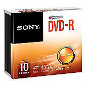 Sony 10-pack DVD+R DVD-R 16x recordable storage