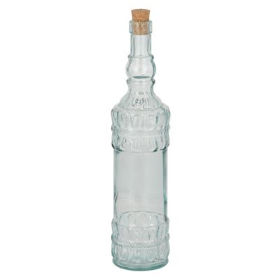 Clear Recycled Glass Moroccan Bottle