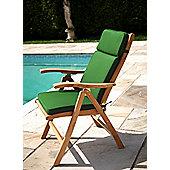 Reclining Chair Garden Cushion Forest Green