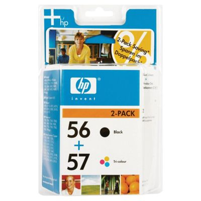 HP 56 (Black) 19ml + 57 (Tri-Colour) 17ml Twin Pack Printer Ink