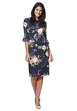 F&F Floral Print Scuba Pencil Dress - Multi