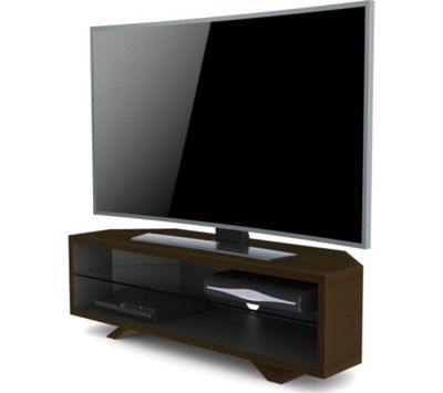 Techlink Dual Corner TV Stand for up to 55 inch TV s - Dark Oak and Satin Grey