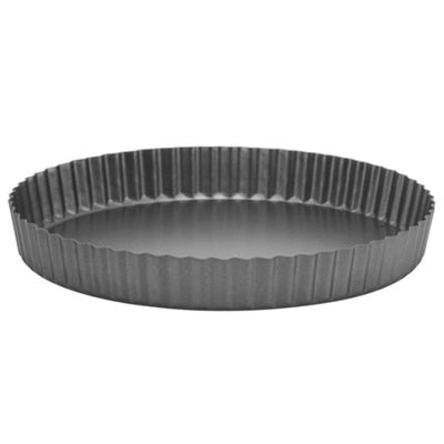 Professional Cook Fluted Loose Base 25.5x3.5cm Quiche Tin