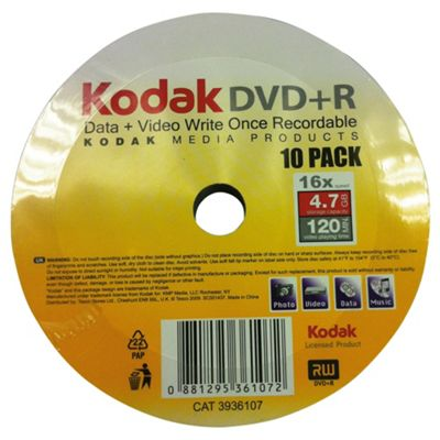 Kodak DVD+R spindle - pack of 10